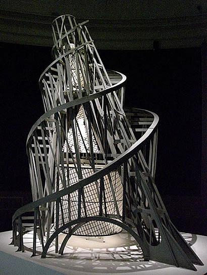Futurist architecture drawings study